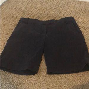 J Crew Navy Bermuda Shorts, Size 8